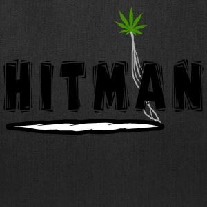 Funny Marijuana Hitman T-Shirt - Tote Bag