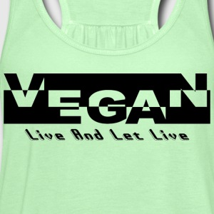 Vegan Live And Let Live T-Shirt - Women's Flowy Tank Top by Bella