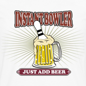 Instant Bowler Just Add Beer T-Shirt - Men's Premium Long Sleeve T-Shirt