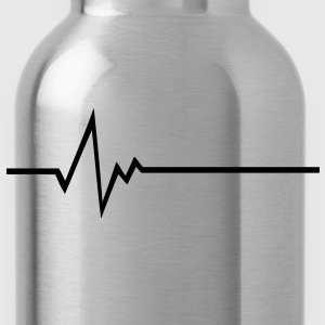 FREQUENCY FREQUENCE PULSE BASS BEAT HEART SHIRT - Water Bottle