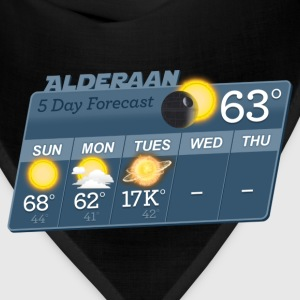 STAR WARS ALDERAAN 5 DAY WEATHER FORECAST T-Shirts - Bandana