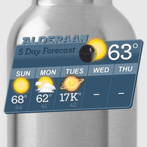 STAR WARS ALDERAAN 5 DAY WEATHER FORECAST T-Shirts - Water Bottle
