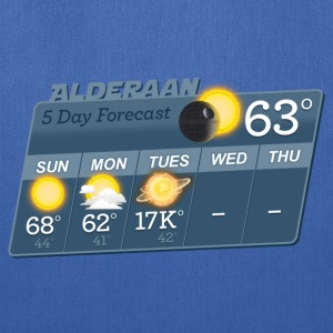 STAR WARS ALDERAAN 5 DAY WEATHER FORECAST T-Shirts - Tote Bag