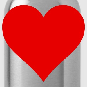 Heart on a girlie t-shirt on the breast - Water Bottle