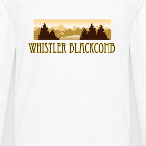 Whistler Blackcomb ski resort truck stop tee  T-Sh - Men's Premium Long Sleeve T-Shirt