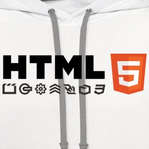 HTML 5 T-Shirts - Contrast Hoodie