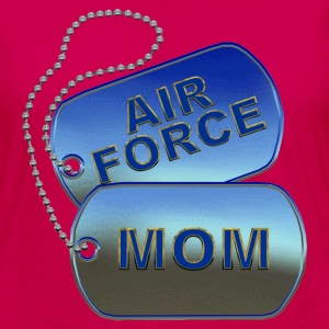 Air Force Mom Dog Tags - Women's Premium Long Sleeve T-Shirt