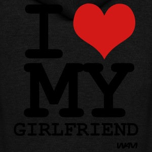 i love my girlfriend by wam T-shirts (manches courtes) - Veste à capuche unisexe American Apparel