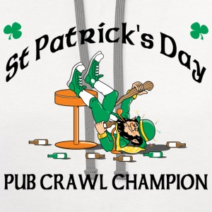 St Patrick's Day Pub Crawl Champion T-Shirt - Contrast Hoodie