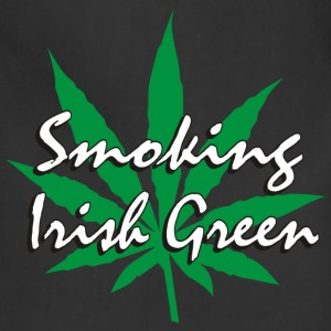 Smoking Irish Green T-Shirt - Adjustable Apron