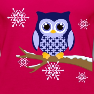 Winter blue owl plus size Women's t-shirt - Women's Premium Tank Top