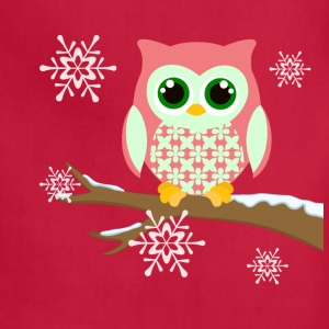 Pink winter owl women's plus size t-shirt - Adjustable Apron