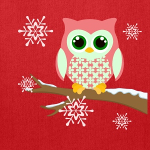 Pink winter owl women's plus size t-shirt - Tote Bag