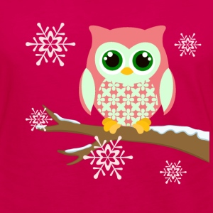 Pink winter owl women's plus size t-shirt - Women's Premium Long Sleeve T-Shirt