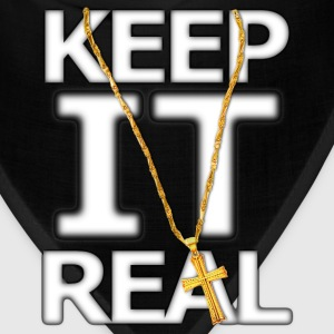 Keep It Real Big Gold Cross - Bandana