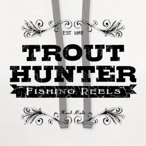 trout hunter black T-Shirts - Contrast Hoodie