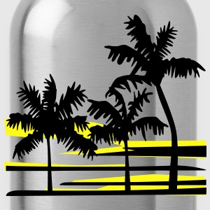 Surfing Surfer Palm Trees Caribbean Hawaii T-Shirt - Water Bottle
