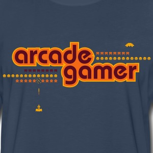 arcadegamer typo T-Shirts - Men's Premium Long Sleeve T-Shirt