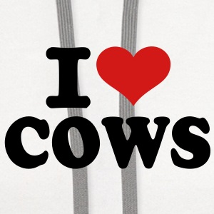 I love Cows Women's T-Shirts - Contrast Hoodie
