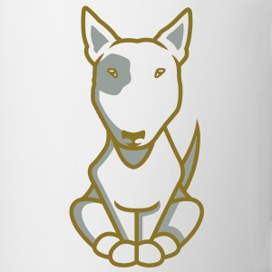 Bull Terrier illu_2013_white_orig T-Shirts - Coffee/Tea Mug