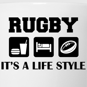 Eat Sleep Play Rugby T-Shirt - Coffee/Tea Mug