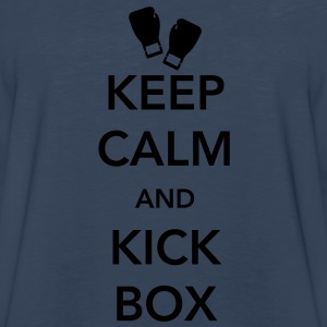 Keep Calm and Kickbox Women's T-Shirts - Men's Premium Long Sleeve T-Shirt