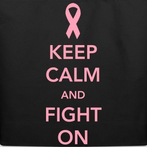Keep Calm and Fight On - Breast Cancer Women's T-Shirts - Eco-Friendly Cotton Tote