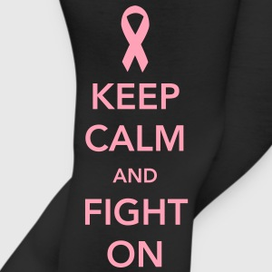 Keep Calm and Fight On - Breast Cancer Women's T-Shirts - Leggings