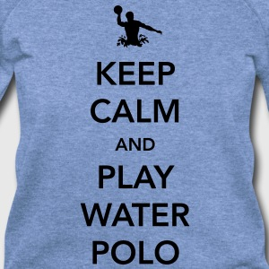 Keep Calm and Play Water Polo T-Shirts - Women's Wideneck Sweatshirt