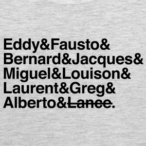 cycling legends except lance T-Shirts - Men's Premium Tank