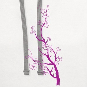 Cherry Blossoms Women's T-Shirts - Contrast Hoodie