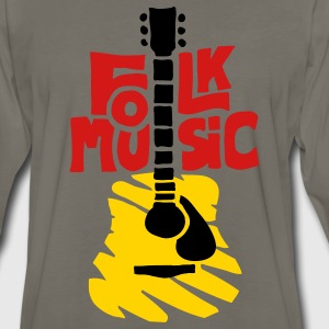 folk_music_guitar T-Shirts - Men's Premium Long Sleeve T-Shirt