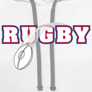 Rugby T-Shirt - Contrast Hoodie
