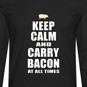 Keep Calm & Carry Bacon - Men's Premium Long Sleeve T-Shirt