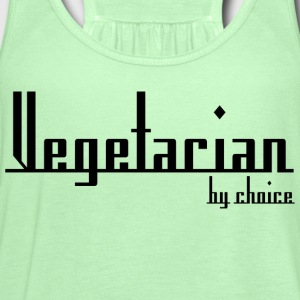 Vegetarian By Choice T-Shirt - Women's Flowy Tank Top by Bella