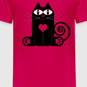 LOVE CAT Kids' Shirts - Toddler Premium T-Shirt