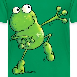 Green Power Frog T-Shirt - Toddler Premium T-Shirt