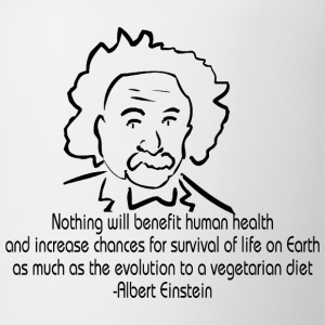 Animal Rights Albert Einstein T-Shirt - Coffee/Tea Mug