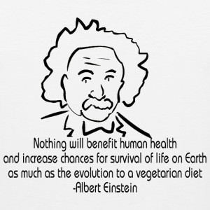 Animal Rights Albert Einstein T-Shirt - Men's Premium Tank