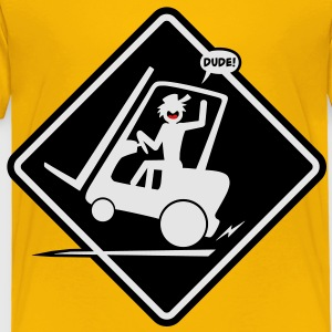 Forklift Placard Kid's-T - Toddler Premium T-Shirt