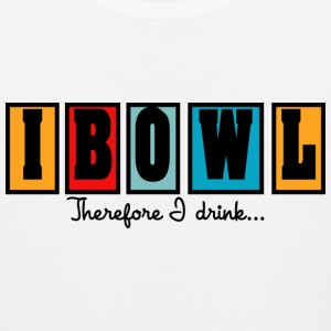 Bowling I Bowl Therefor I Drink T-Shirt - Men's Premium Tank