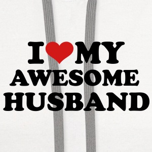 I love my awesome husband Women's T-Shirts - Contrast Hoodie