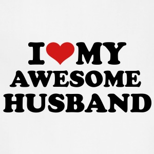 I love my awesome husband Women's T-Shirts - Adjustable Apron
