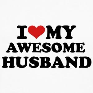 I love my awesome husband Women's T-Shirts - Men's Premium Long Sleeve T-Shirt