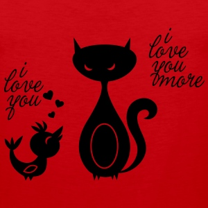 Lovebird ... love to celebrate romantic valentine's day like a boss Women's T-Shirts - Men's Premium Tank