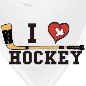 I Love Hockey T-Shirt - Bandana