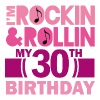 30th Birthday (Rock and Roll) Womens T Shirt | Adu - Women's Premium T-Shirt