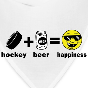 Hockey + Beer = Happiness T-Shirt - Bandana
