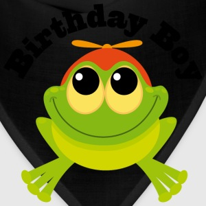 Birthday Boy Frog Toddler T Shirt | Birthday Shirt - Bandana