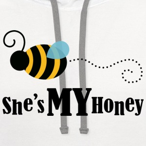 She's My Honey (Couples Matching) Mens T-shirt | C - Contrast Hoodie